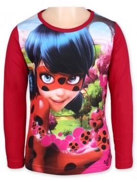 Dívčí tričko s dlouhým rukávem Ladybug