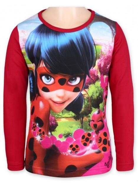 510a229d721 Dívčí tričko s dlouhým rukávem Kouzelná beruška (Ladybug) - červené