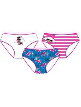 Dívčí bavlněné kalhotky L.O.L. Surprise - 3ks