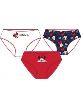 Dívčí bavlněné kalhotky Minnie Mouse - Disney - 3ks