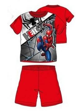 Chlapecké letní pyžamo Spiderman HERO - červené