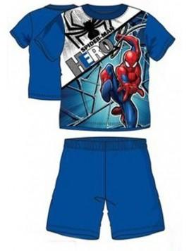 Chlapecké letní pyžamo Spiderman HERO - modré