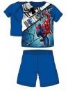 Krásne a pohodlné chlapčenské pyžamo vyrobené zo 100% bavlny s motívom Spider-man HERO - MARVEL. Horný diel v modrej farbe s obrázkom obľúbeného akčného hrdinu Spidermana má krátky rukáv. Aj pyžamové nohavice k tomuto kompletu majú modrú farbu a krátke nohavice.
