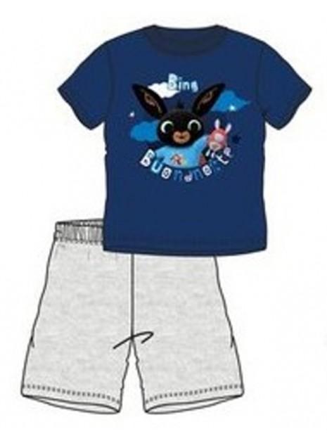Chlapecké letní bavlněné pyžamo zajíček Bing - modré