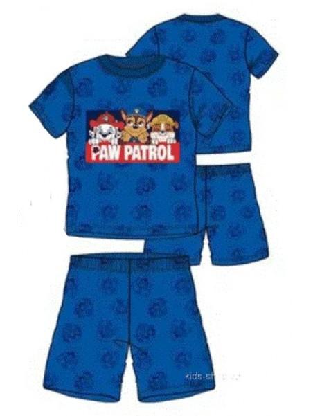 Letní chlapecké pyžamo Tlapková patrola - modré