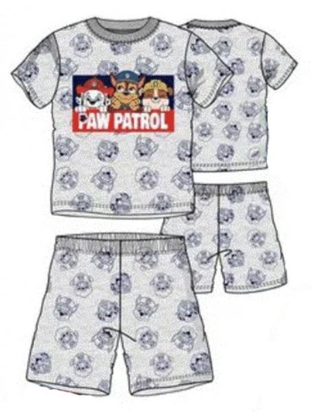 Letní chlapecké pyžamo Tlapková patrola - šedé