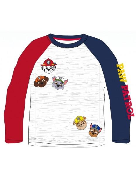 Chlapecké tričko s dlouhým rukávem Tlapková patrola - PAW PATROL - šedé
