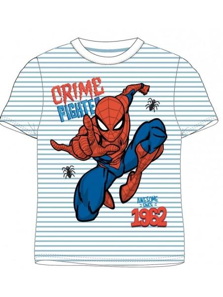 Chlapecké tričko s krátkým rukávem Spiderman - pruhy - sv. modré
