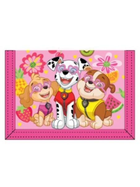 Dětská textilní peněženka Tlapková patrola - růžová