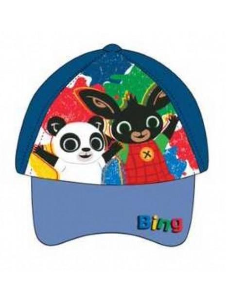 Chlapecká kšiltovka zajíček Bing a Pando - tm. modrá