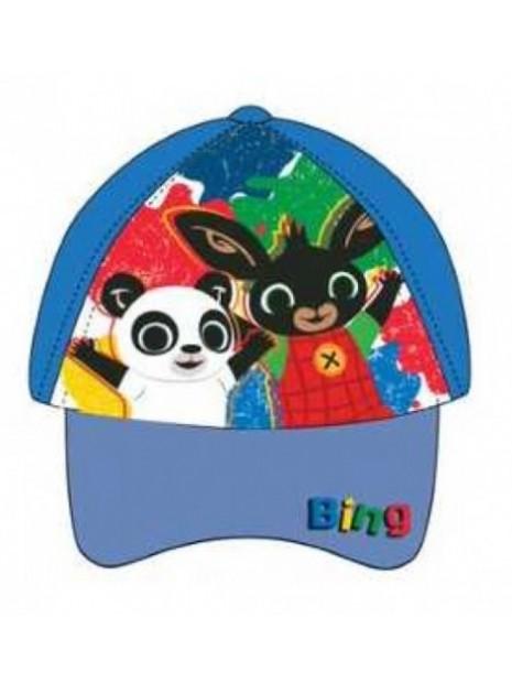 Chlapecká kšiltovka zajíček Bing a Pando - modrá