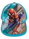 Baseballová čiapka pre chlapcov s motívom Spiderman - Marvel. Prednú stranu čiapky aj šiltu zdobí obrázok pavúčieho muža Spidermana, zadná strana je tyrkysová s nastavovacím pásikom so suchým zipsom.