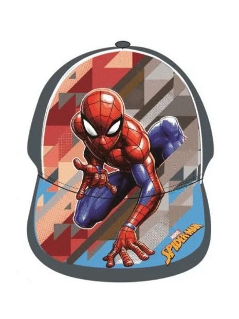 Chlapecká kšiltovka Spiderman - šedá