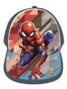 Baseballová čepice pro kluky s motivem Spiderman - Marvel. Přední stranu čepice i kšiltu zdobí obrázek pavoučího muže Spidermana, zadní strana je šedá s nastavovacím páskem se suchým zipem.