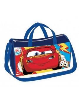 Sportovní taška Blesk McQueen - Auta - tm. modrá