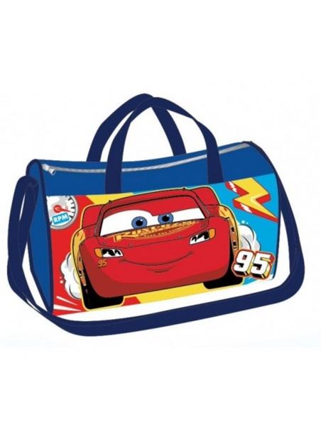 Sportovní taška Blesk McQueen - Auta - modrá