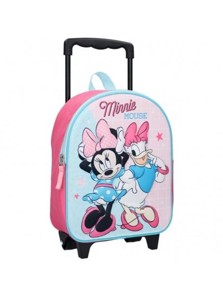 Dětský cestovní kufr na kolečkách Minnie Mouse a Daisy