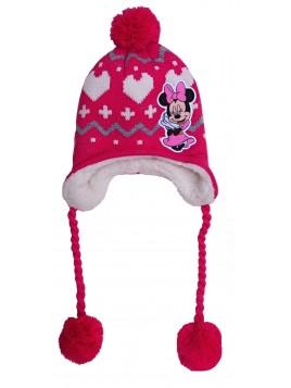 Zimní dívčí čepice Minnie mouse ušanka