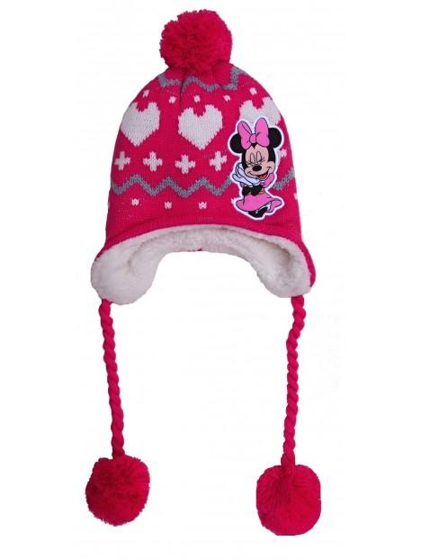 fa86eeef7 Zimná dievčenská čiapka Minnie mouse ušianka - ružová