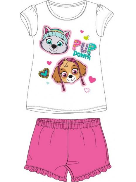 Letní dívčí pyžamo Tlapková patrola - Paw Patrol - bílé