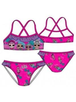 Dívčí dvoudílné plavky L.O.L. Surprise - tm. růžové