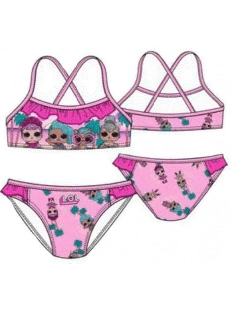 Dívčí dvoudílné plavky L.O.L. Surprise - sv. růžové