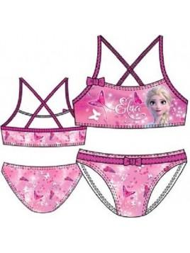 Dívčí dvoudílné plavky Ledové království Elsa - sv. růžové