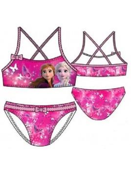 Dívčí dvoudílné plavky Ledové království Elsa - tm. růžové