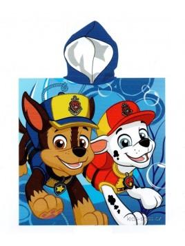 Chlapecké bavlněné pončo osuška s kapucí Tlapková patrola - Paw Patrol