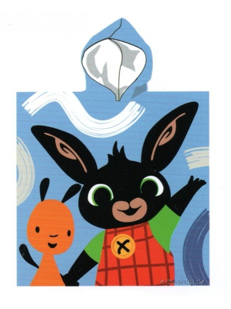 Chlapecké bavlněné pončo - osuška s kapucí zajíček Bing