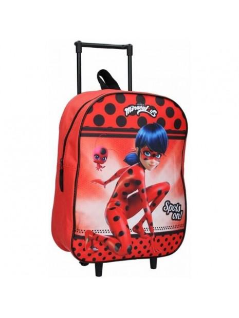 Dětský kufr na kolečkách Kouzelná beruška - Ladybug