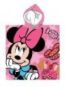 Dětská bavlněná pončo osuška s kapucí Minnie Mouse - Disney