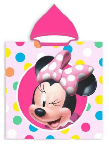 Dětská bavlněná pončo osuška s kapucí Minnie Mouse - puntíky
