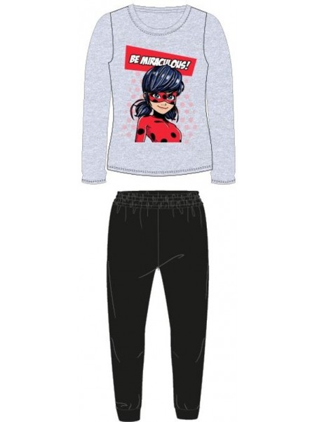 Dívčí pyžamo Kouzelná beruška - Ladybug - šedé