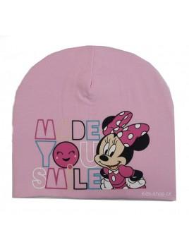 Dívčí jarní / podzimní čepice Minnie Mouse - Disney - sv. růžová