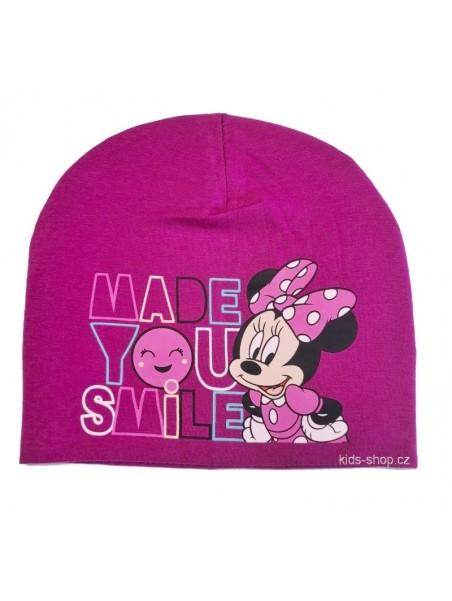 Dívčí jarní / podzimní čepice Minnie Mouse - Disney - tm. fialová