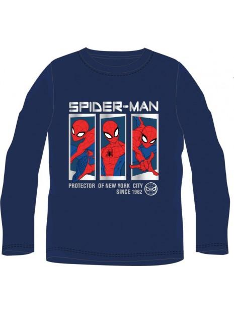 Chlapecké tričko s dlouhým rukávem Spiderman MARVEL - modré