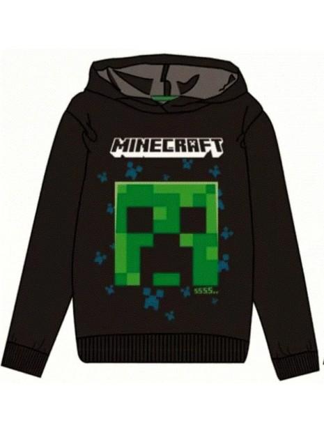 Chlapecká mikina s kapucí Minecraft - černá