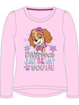 Dívčí tričko s dlouhým rukávem Tlapková patrola / Paw Patrol - růžové