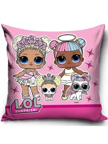 Dětský povlak na polštář L.O.L. Surprise - růžový