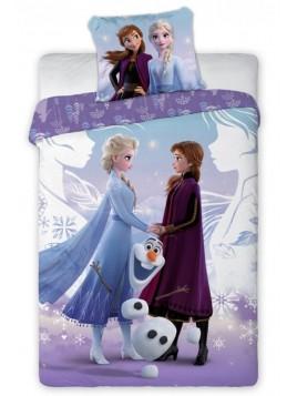 Dětské bavlněné ložní povlečení Ledové království - Elsa, Anna a Olaf