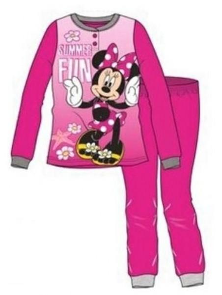 Dívčí bavlněné pyžamo Minnie Mouse - tm. ružové