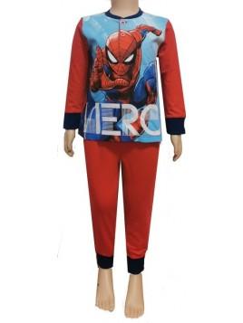 Chlapecké bavlněné pyžamo Spiderman - MARVEL - červené