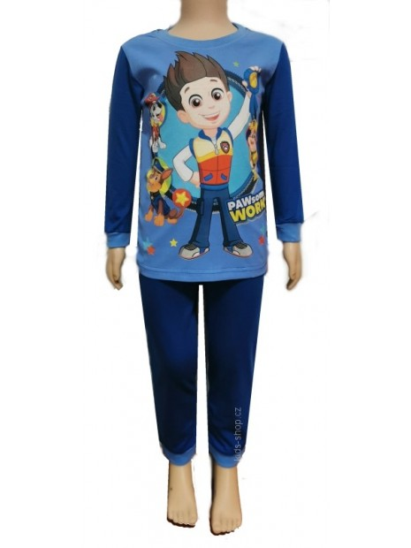 Chlapecké bavlněné pyžamo Tlapková patrola / Paw Patrol - tm. modré