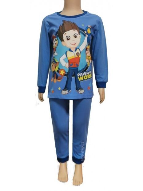 Chlapecké bavlněné pyžamo Tlapková patrola / Paw Patrol - sv. modré