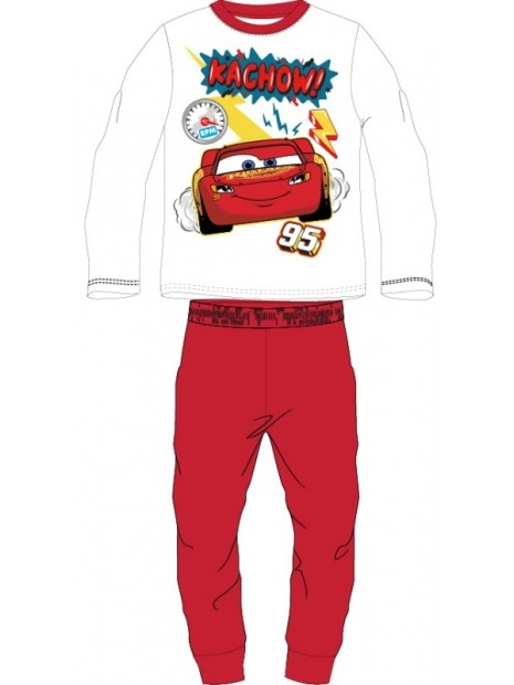 Chlapecké bavlněné pyžamo BLESK MCQUEEN 95 - Auta - červené