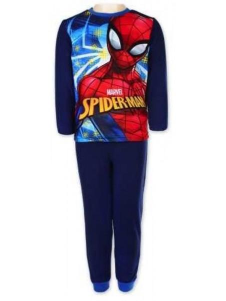 Chlapecké zimní pyžamo Spiderman - tm. modré