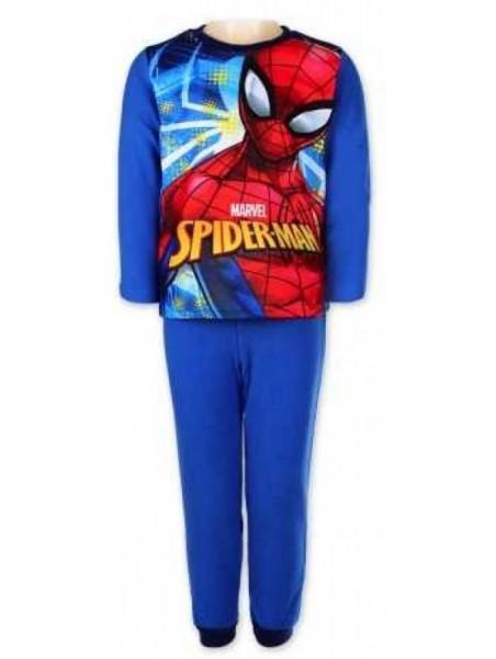 Chlapecké zimní pyžamo Spiderman - modré