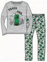 Chlapecké pyžamo Minecraft Creeper - šedé