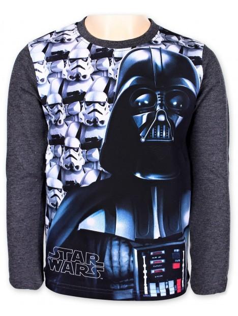 Chlapecké tričko s dlouhým rukávem s motivem Star Wars - šedé 3819715dc9